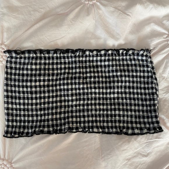 Charlotte Russe Checkered Bandeau/Crop